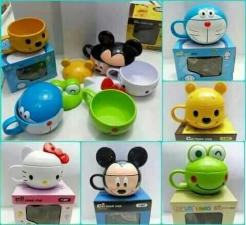 Harga Mug Gelas Tutup Karakter Disney Mickey Minnie Pooh Hello Kitty Keroppi Tokopedia