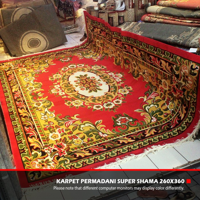 Karpet Permadani Lokal Super Shama Motif 8 Red Bright 260x360cm