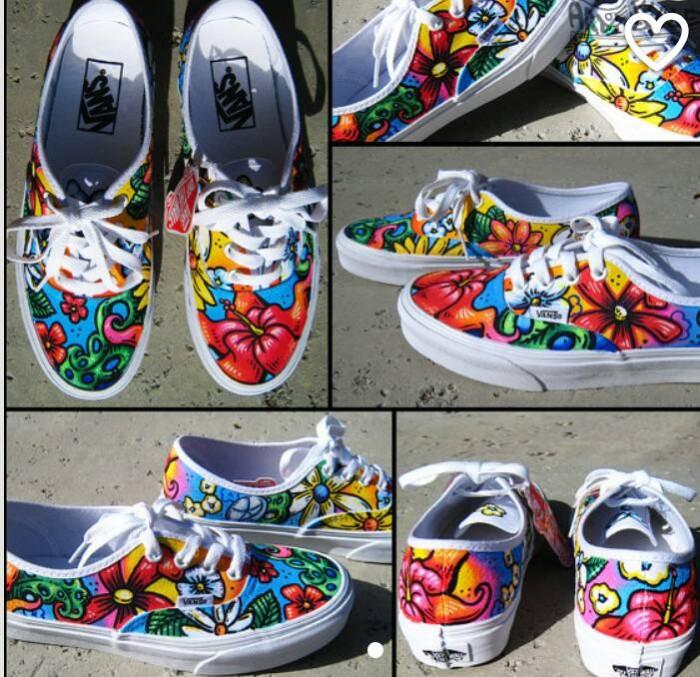 Jual sepatu vans lukis custom - sepatu lukis RS-shoesart  6c87d06a16