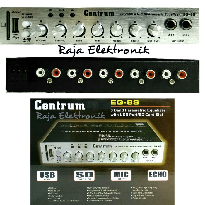 Jual Parametric Equalizer Mobil Centrum Eq 8s Pre Amp Mobil 3 Band Usb Kab Banyumas Liuz Elektronik Tokopedia