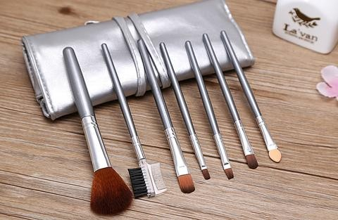 harga Set kuas alat make up brush 7 pcs + dompet make up / peralatan make up Tokopedia.com