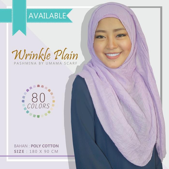 Kerudung jilbab hijab umama wrinkle plain pashmina terbaru modern
