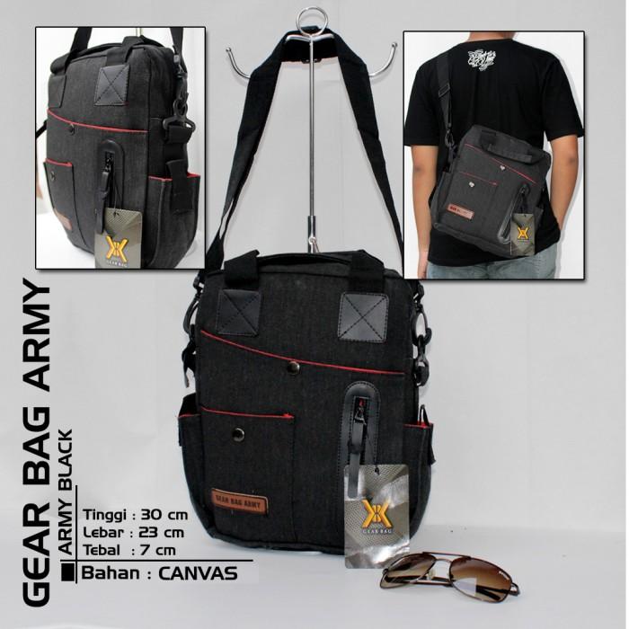 Jual GET482 Tas Selempang Pria Gear Bag Army CANVAS Hitam Tentara ... 86131747f9