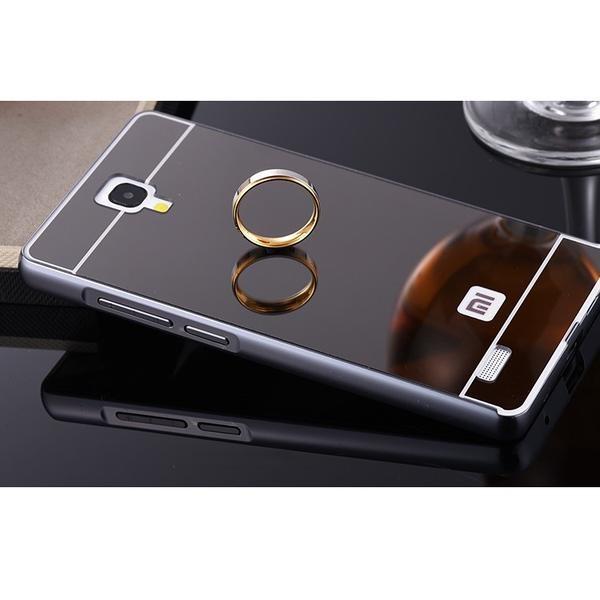 half off d9760 d6b12 Jual Bumper Mirror Case Xiaomi Redmi Note 1 3G / 4G /Aluminium/ - Sinar  GOLD | Tokopedia