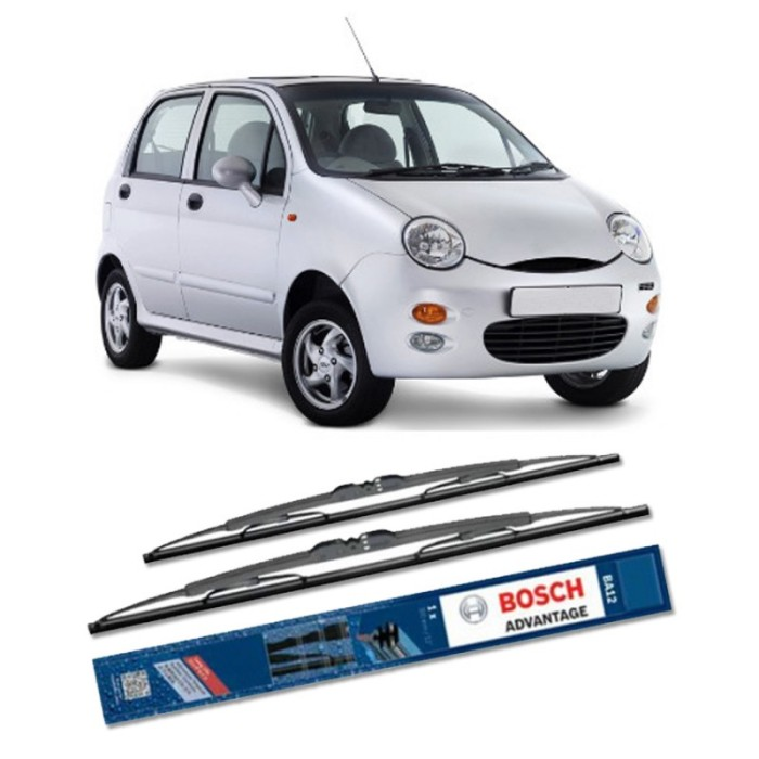 Jual Bosch Sepasang Wiper Kaca Mobil Cherry Qq3 Advantage 21  & 16 – 2 Buah Harga Promo Terbaru