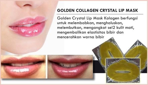 [5 pcs] MASKER BIBIR - Golden Collagen Crystal Lip Mask