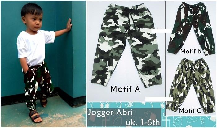 harga Celana jogger abri anak 1-2th bayi baby joger loreng semi jeans hijau Tokopedia.com