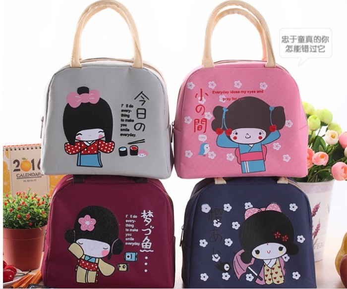 harga Lunch bag cooler tas bekal makanan japanese girl (free 2pcs jelly ice) Tokopedia.com