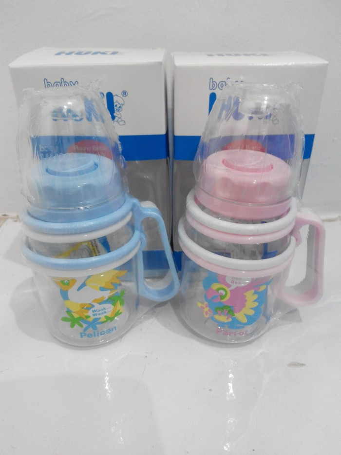 Botol susu bayi Huki deluxe with handle 120 ml