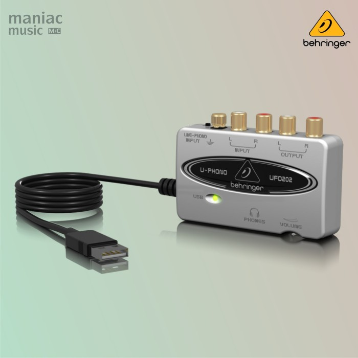 harga Behringer ufo202 (soundcard recording phono preamp turntable kaset) Tokopedia.com