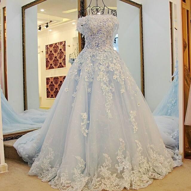 Jual Gaun Pengantin Lengan Pendek Baju Pengantin Import Wedding Gown Mewah Kota Medan Chicquinna Gown Tokopedia