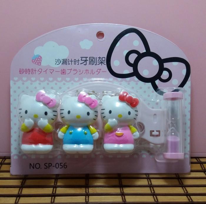 harga Tempat sikat gigi jam pasir karakter trio hello kitty Tokopedia.com