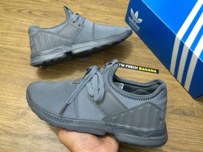 b5e88b74e ... discount code for sepatu adidas zx flux plus zxflux zxplus zxfluxplus  slipon grey white 00afd 47680 ...