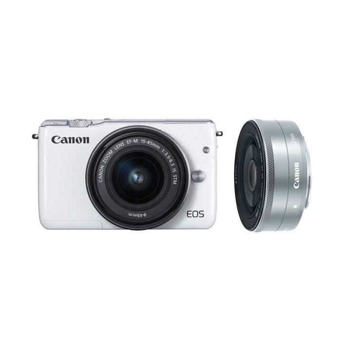 harga Canon eos m10 kit lens 15-45mm + lens 22mm Tokopedia.com