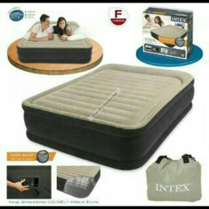 Kasur Angin INTEX Fiber Tech QUEEN Premium Comfort 64404ES