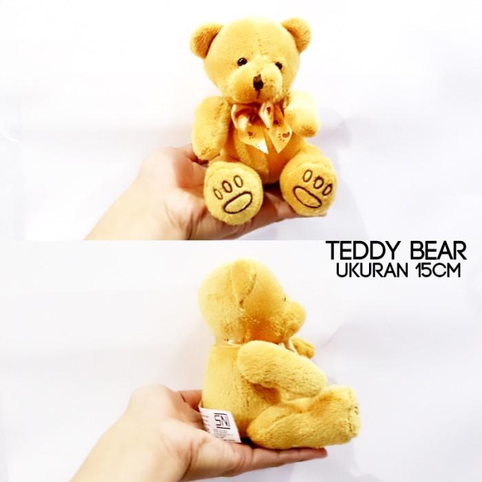 harga Teddy bear souvenir merchaindise lempar wedding 15cm couple teddy hous Tokopedia.com