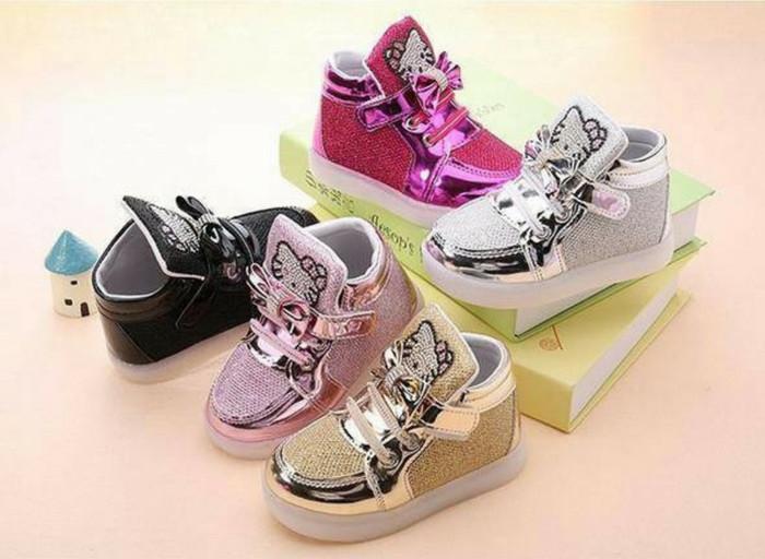 harga Sepatu lampu boot nyala anak hello kitty grosir murah led shoes 26-30 Tokopedia.com