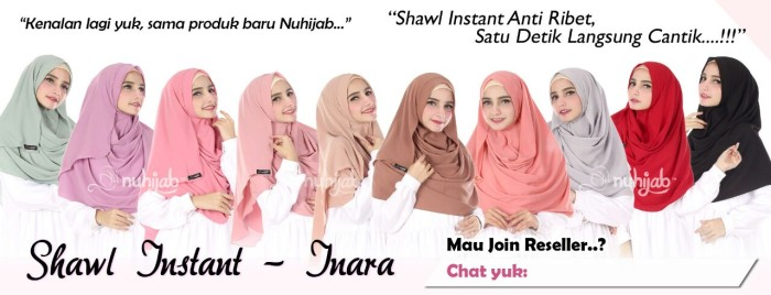 Foto Produk Shawl Instan Inara - Nuhijab - Jilbab Instan dari BUTIK ELEGANT