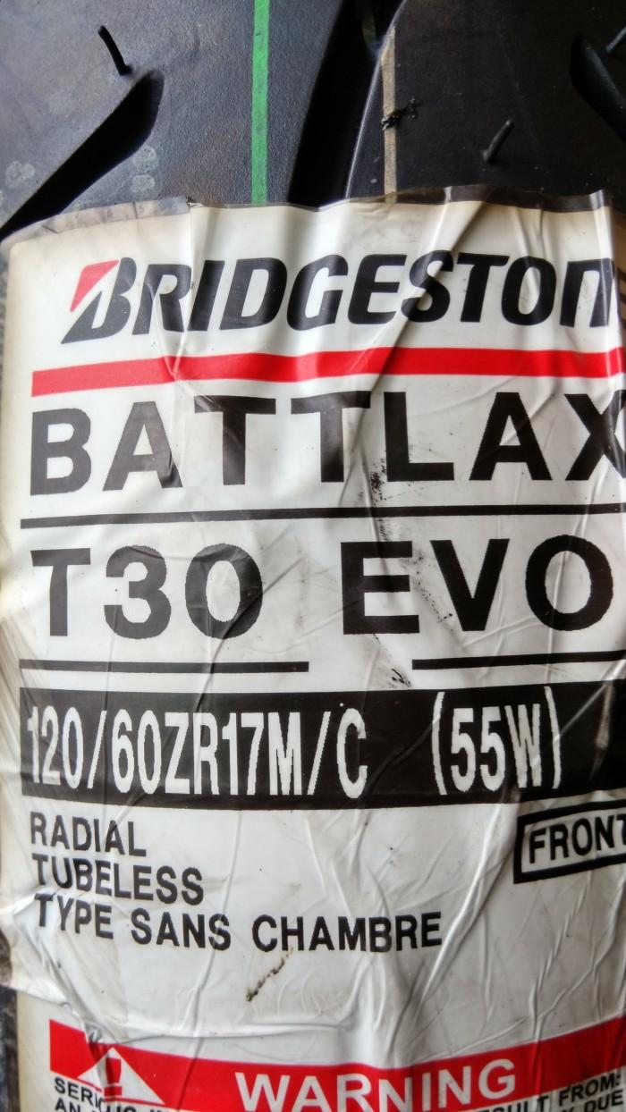 harga Ban bridgestone battlax 120/60-17 t30 evo sport touring motor tubeless Tokopedia.com