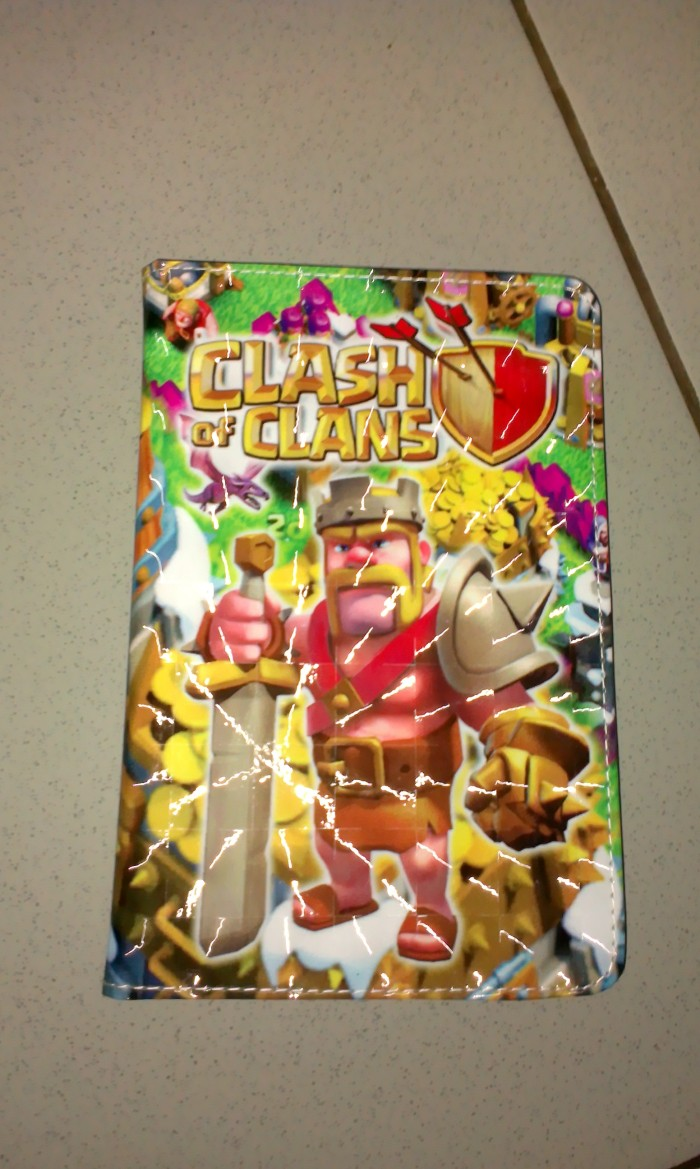 Jual LEATHER CASE TABLET 7 INCHI GAMBAR CLASH OF CLANS COC BOOK COVER Kab Purwakarta Andri P
