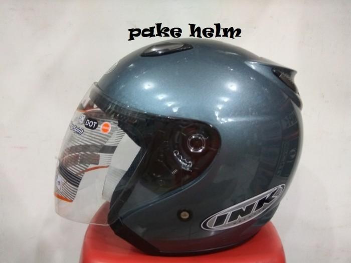 Harga Helm Ink Centro Jet Solid Abu Muda 100 Original Tokopedia