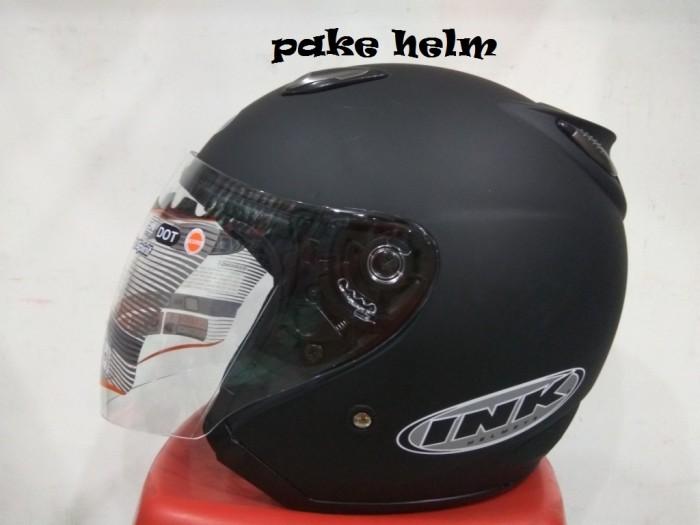 harga Helm Ink Centro Jet Solid Hitam Doff 100% Original Tokopedia.com