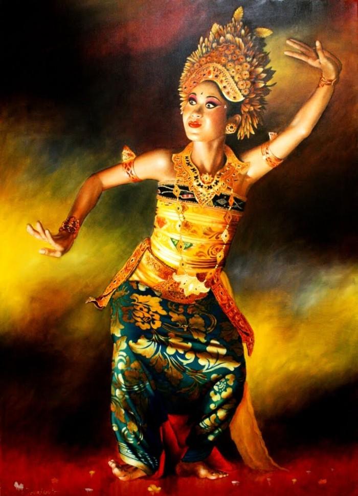 harga Repro gambar lukisan penari dancer bali pretty painting beautiful Tokopedia.com