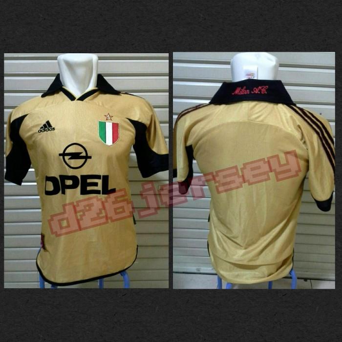 harga Jersey retro ac milan centenary 1999/2000 (gold) Tokopedia.com