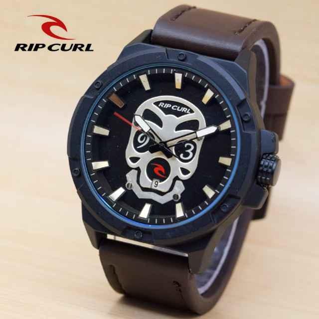 harga Jam tangan pria ripcurl tengkorak kulit coklat tua silver Tokopedia.com
