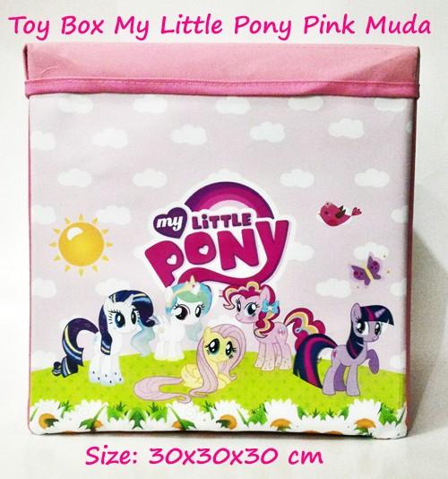 harga Toy box triplek my little pony pink muda (kotak mainan karakter) Tokopedia.com