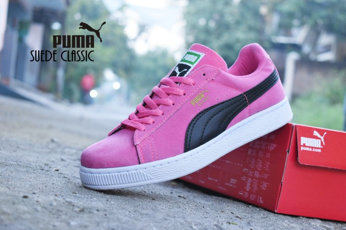 Jual Sepatu Puma Suede Classic Import   Pink Hitam   casual kets ... 183391ee49