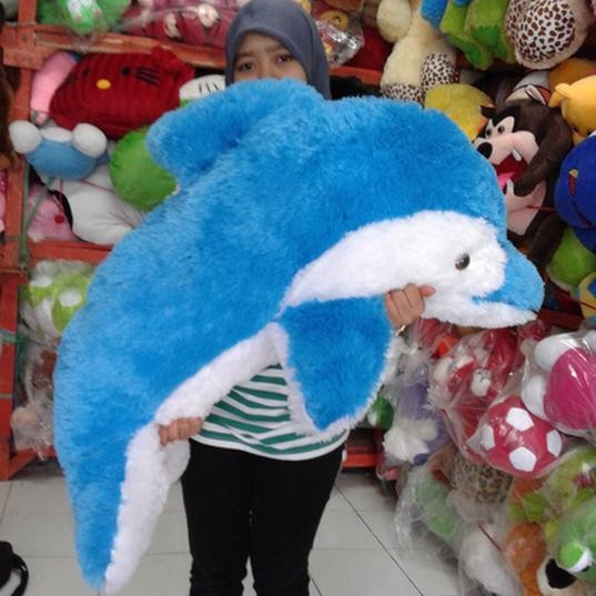 Jual Boneka Dolphin   Lumba Lumba Biru Ukuran Jumbo 90Cm (Kualitas ... 2d22c0d9b1