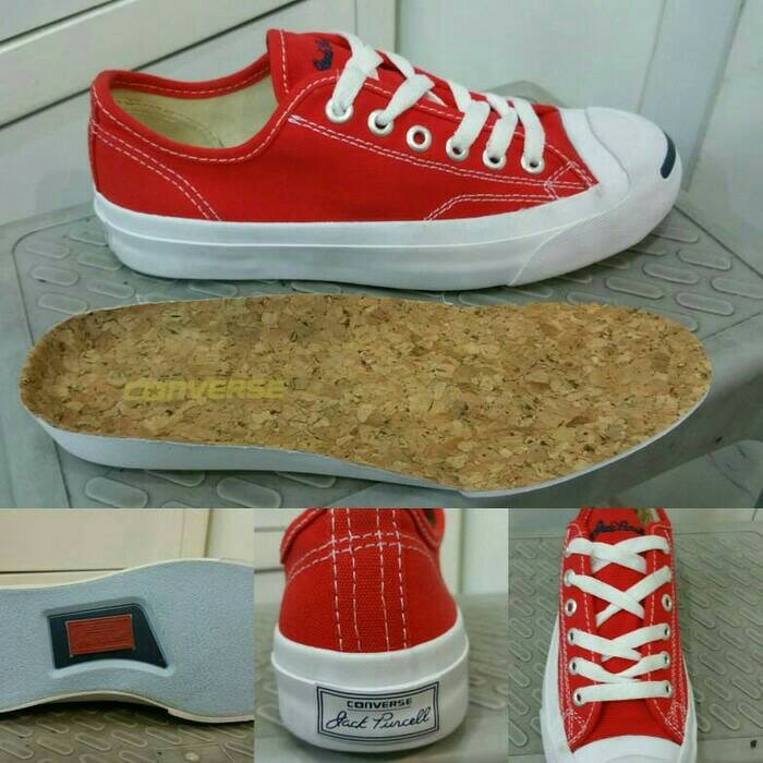 harga Converse jack purcell canvas low red Tokopedia.com