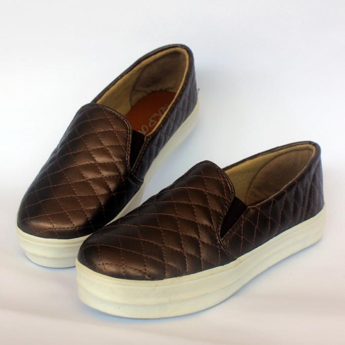 yutaka sepatu slip on yutaka sepatu slip on cokelat f0b11dd. Black Bedroom Furniture Sets. Home Design Ideas