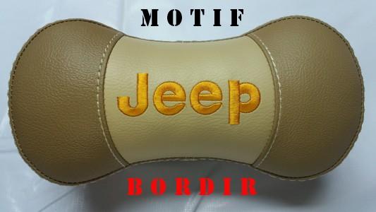 harga Bantal interior variasi mobil lucu murah jeep crem bordir Tokopedia.com