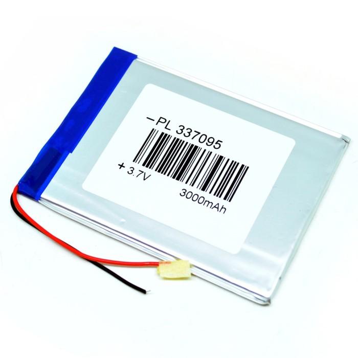 Foto Produk Battery Rechargeable Li-Polymer 337095 3.7V 3000mAh for Tablet PC dari Buka Lapakpedia