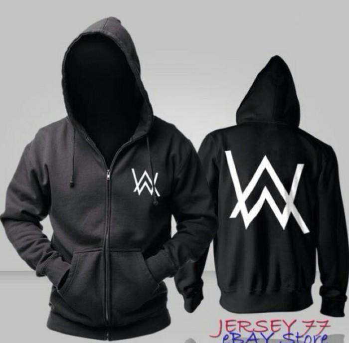 harga Jaket hoodie sweater dj alan walker hitam black cewek cowok premium Tokopedia.com