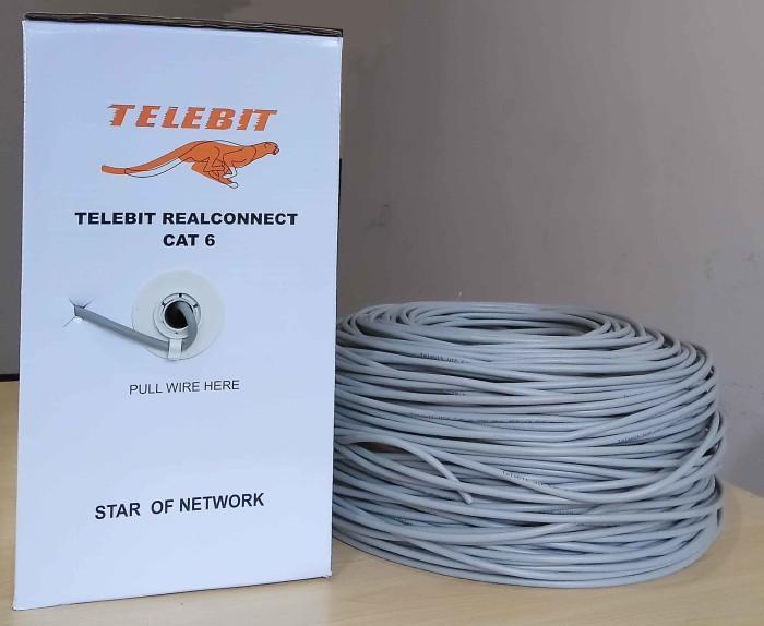 Foto Produk Kabel LAN Network CAT 6 1 Gbps harga meteran Telebit dari merakota