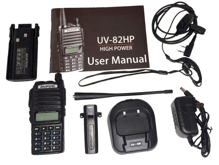 harga Radio walkie handy talky ht baofeng pofung dual band uhf vhf uv-82hp Tokopedia.com