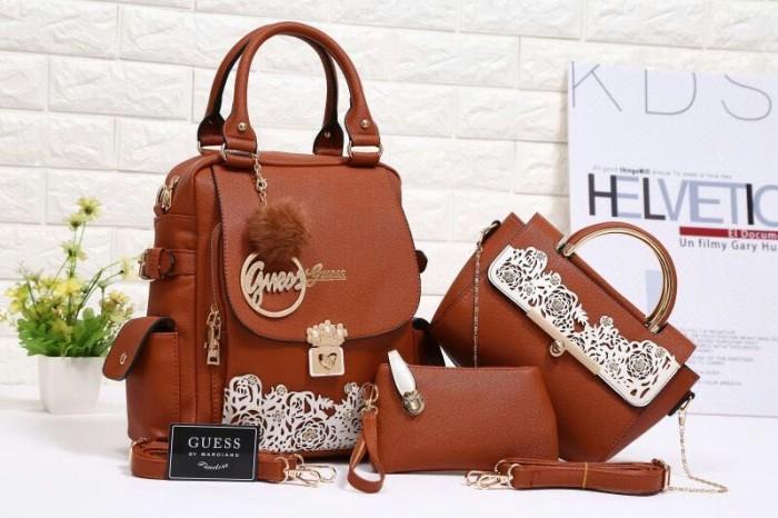 Jual tas wanita guess terbaru bsa jadi tas ransel barang impor - FIZ ... 68258aad5f