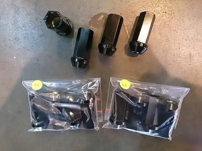 Racing Nut M17 x 1.25 Long 48mm Black SSR (4pcs/pack)