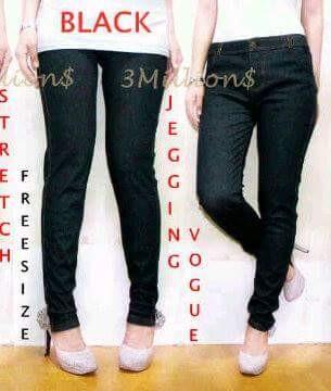 Jual Celana Legging Wanita Semi Jeans Strech Hitam Jakarta Utara Tokofirst Tokopedia