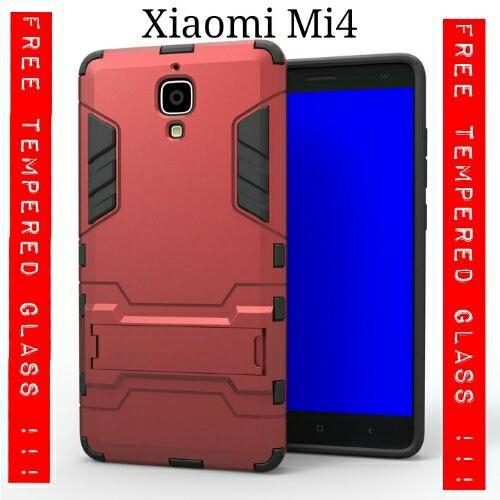 PAKET 2 IN 1 CASING Xiaomi Mi4 Mi 4 Slim Armor Robot Rugged Iro