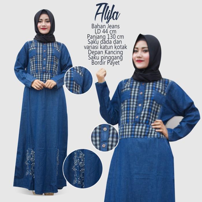 Jual Busana Muslim Wanita Gamis Jeans Jeans Murah Gamis Jeans Terbaru Kota Bandung Konveksi Soreang Tokopedia