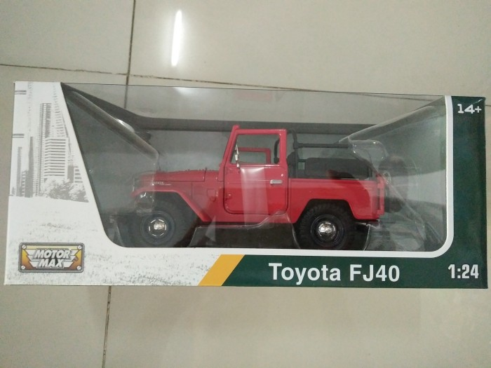 harga Diecast Car Toyota Land Cruiser Fj40 Red 1/24by Motor Max Tokopedia.com