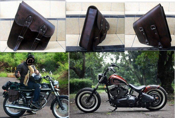 harga Aksesoris tas motor dengan bahan kulit asli (kode bb) Tokopedia.com