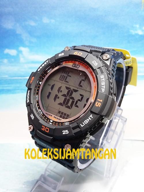 Jam tangan sport pria qq qnq q&q m147j003y digital original