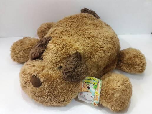 Boneka dog anjing tiduran coklat