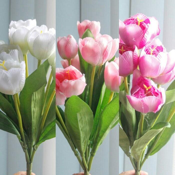 bunga tulip bunga plastik bunga hias tulip kain bunga artificial 9713b08255