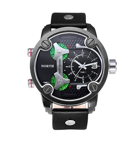 North men sport watch army jam tangan pria quartz waterproof